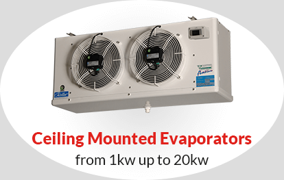 Ceiling Mounted Evaporators from 1kw up to 20kw