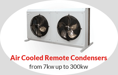 Air Cooled Remote Condensers from 7kw up to 300kw